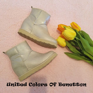 NWOT United Colors Of Benetton Fur-Lined Boots